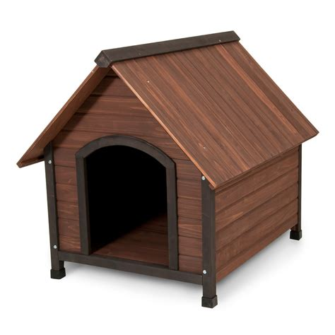 pet dog houses shop aspen pet 2 86 ft x 2 65 ft x 3 21 ft cedar dog house at lowes com