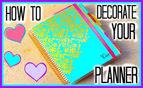 how to decorate pictures how to decorate your erin condren planner youtube