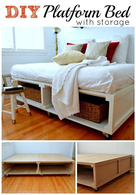 diy platform bed ideas diy projects craft ideas