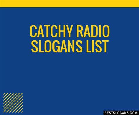catchy radio slogans list taglines phrases names