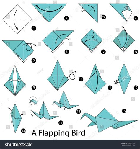 How To Make A Paper Bird Step By Step - step by step how make stock vector 562827634