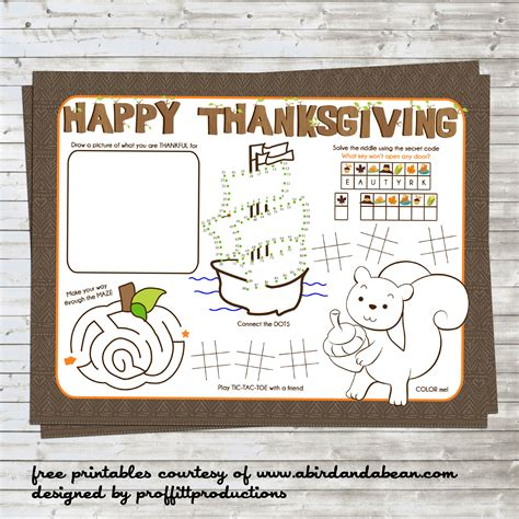 printable turkey placemat free printable thanksgiving placemat for the kids