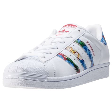 adidas superstar w womens trainers white multicolour new shoes ebay