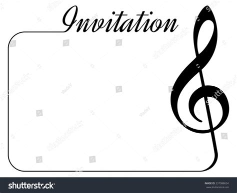 invitation card music performance concert isolated stock
