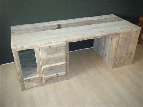 buro zelf maken steigerhouten bureau met laden www