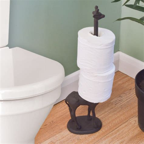free standing toilet paper holder with storage metal giraffe toilet roll kitchen tissue free standing