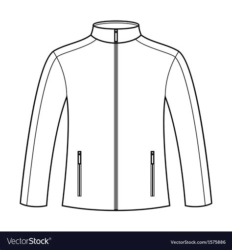 coat template jacket template royalty free vector image vectorstock
