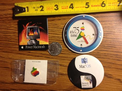 Mac Pride Pins Made From Apple by Apple Advertising Button Power Macintosh Os 7 5 Rainbow
