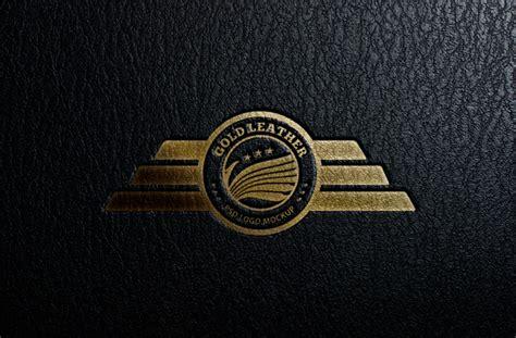 logo versace psd embossed leather logo mock up