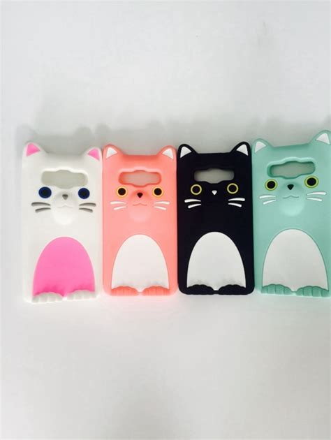 Silicon Casing Hardcase 3d Samsung A5 E5 J5 3d cat soft silicone mobile phone bags cover for samsung galaxy a5 e5 j5 j500 a500
