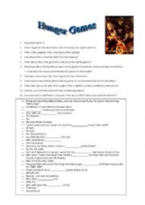 the hunger games themes worksheet answers english worksheets the hunger games worksheet