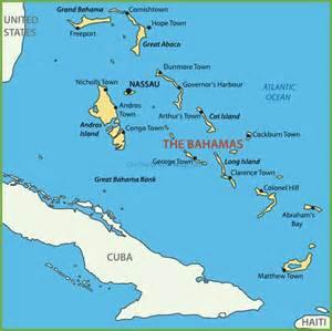 Bahamas World Map by Bahama Islands Map