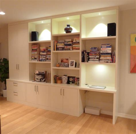 modern wall unit with desk hudson cabinetry design