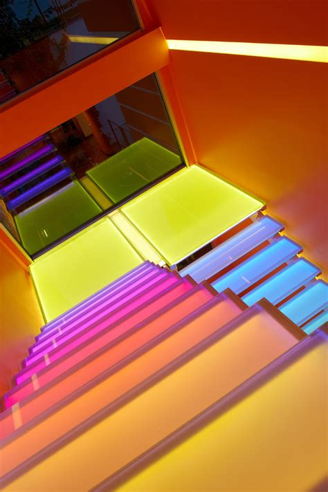 7 inspiring exles of rainbow stairs contemporist