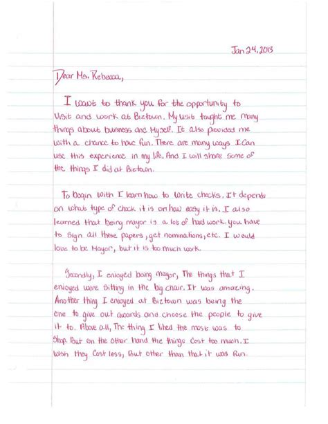 Thank You Letter Template 5th Grade A Touching And Inspiring Thank You Letter From A 5th Grader Who Recently Served As Our Ja