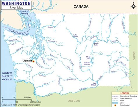 washington rivers map buy washington river map