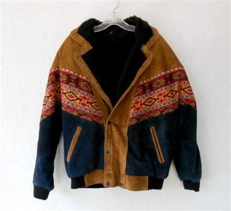 Vintage Jacket Bomber Jaket vintage bomber jacket mens southwestern navajo print