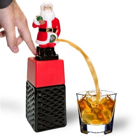 peeing santa drink dispenser geekextreme