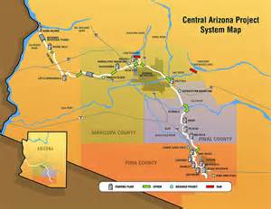 central arizona map thirsty city