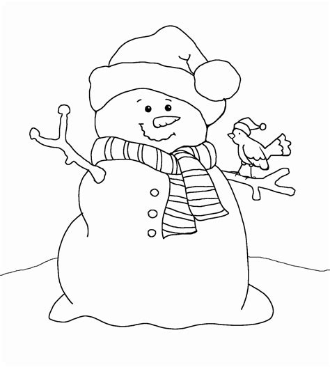 Free Coloring Pages Of The Snowman Is White Free Printable Snowman Coloring Pages