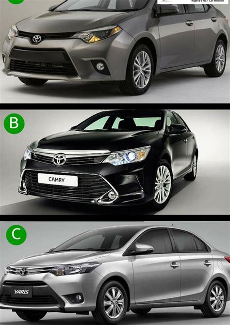 Toyota Corolla Vs Camry Photo Corolla Vs Camry Vs Yaris Car Talk Nigeria