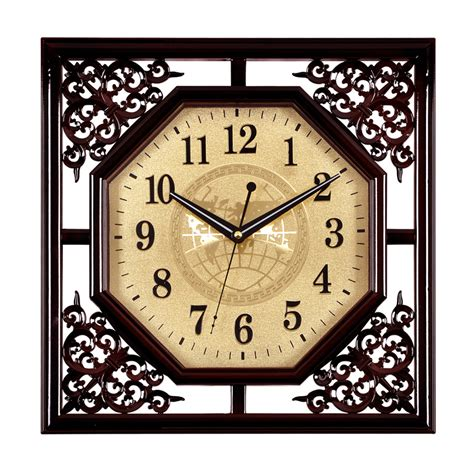 Decorative Wall Clocks For Living Room Classical Decorative Square Living Room Wall Clock Wall Charts Mute Teahouse