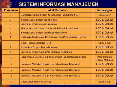 Sistem Informasi Konsep Teknologi Manajemen Soendoro Limi sistem informasi manajemen pertemuan 1