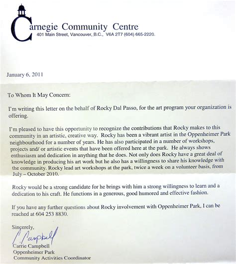 Support Letter Company Community Support Racac