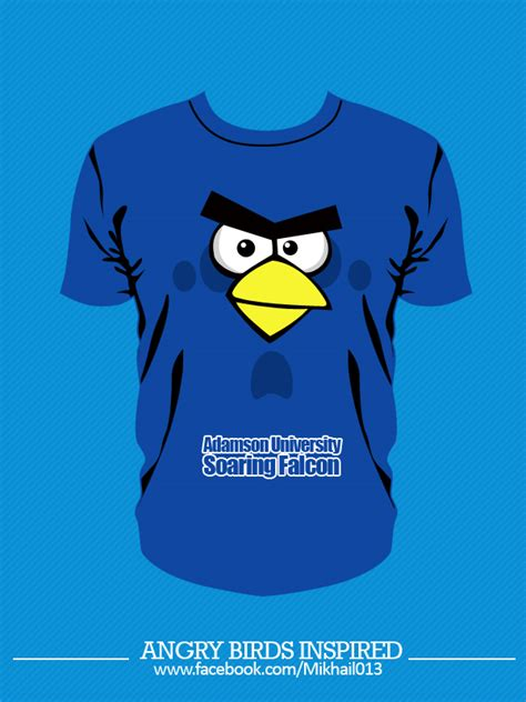Tshirt Angry Brids 2 blue angry birds t shirt desgin by mikhailargel on deviantart