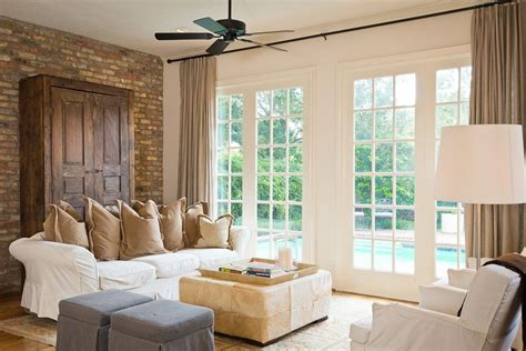 metal accent wall brick accent walls living room eclectic with brick