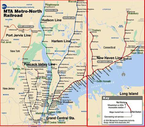 metro harlem line map city of new york new york map mta metro railroad