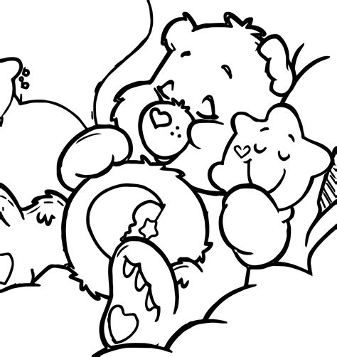 sleeping bear coloring pages to print sleeping bear with star coloring page wecoloringpage