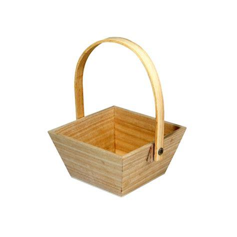 panier de paques en bois 10cmx10cm maison pratic