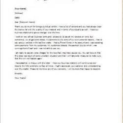 Business Apology Letter For Delay In Payment Formal Official And Professional Letter Templates Part 5
