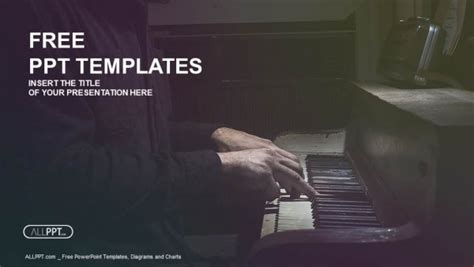 pianist musician piano music playing powerpoint templates