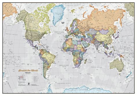 print maps scratch the world 174 map print