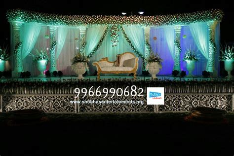 wedding stage flower and reception stage decorations in