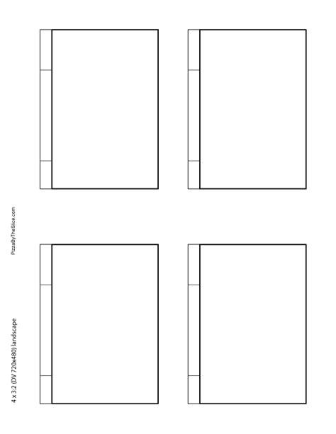 blank storyboard templates pizza   slice