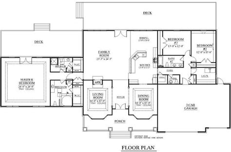 rambler open floor plans house plan 3349 b wade floor plan large 1 story rambler