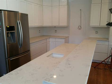 Carrara Quartz Countertop by Wl Cm Works Granite Countertops Chicago