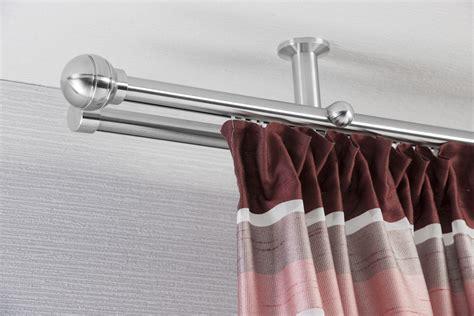 gardinenstange deckenmontage gardinenstange edelstahl saturn innenlauf diego 2 l 228 ufig