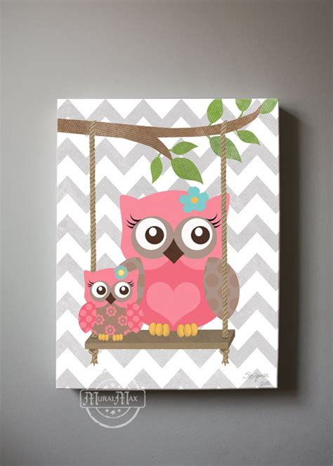 Owl Wall Decor For Nursery Owl Decor Wall Owl Canvas Baby Nursery Owl