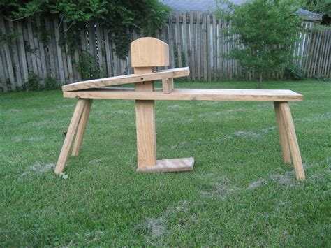 shaving horse bench shaving horse by treemanlarry lumberjocks com