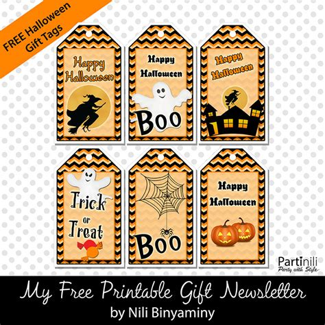 free printable gift tags for halloween treats halloween printables