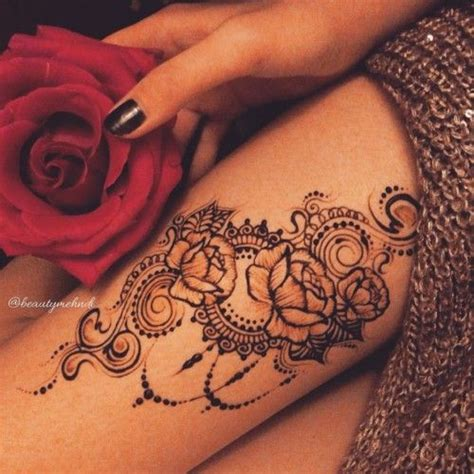 henna tattoo designs rose best 25 henna thigh ideas only on side