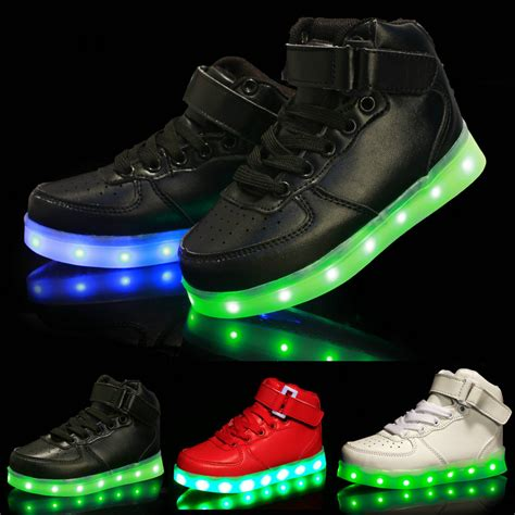 Sepatu Anak Led Sneaker Sepatu Bayi New Arrival Import new 2016 design high top sneakers led luminous usb
