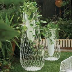 metal mesh and glass outdoor vase outdoor pots and