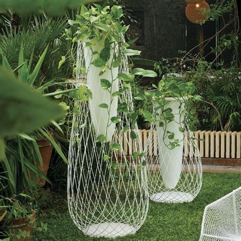 Wire Garden Planters by Metal Mesh And Glass Outdoor Vase Outdoor Pots And