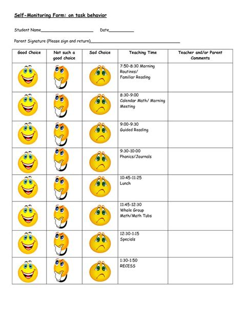behavior worksheets for elementary students worksheets for