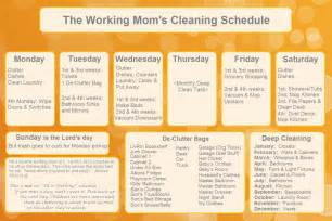 8 best images of cleaning schedule printable free